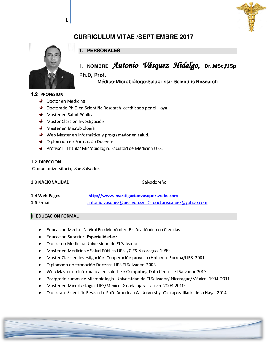 CURRICULUM VITAE OCT 2017- C |authorSTREAM