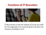 Functions of IT Recruiters