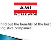 find out the benefits of the best logistics companies