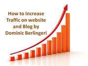 How to Increase Traffic on website and Blog by Dominic Berlingeri