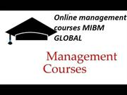 Online management courses in the career are the ambition of all of us