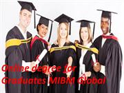 Online degree for Graduates a MBA MIBM Global
