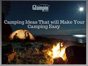 Best Camping Ideas for Beginners | Glampinlife