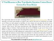 6 Vital Reasons to Buy Top-Quality Egyptian Cotton Duvet Covers For Yo