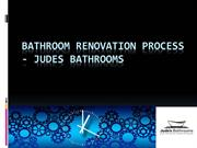 Bathroom Renovation Process - Judes Bathrooms