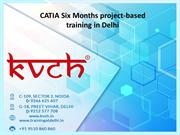 CATIA Six Months project-based training in Delhi