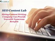SEO Content Lab - Hiring Content Writing Company Can Provide You with