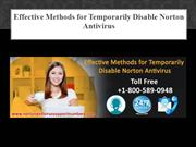 Effective Methods for Temporarily Disable Norton Antivirus
