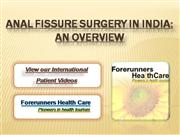 Anal Fissure Surgery in India: An overvi