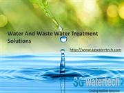Water and Waste Water Treatment Solutions