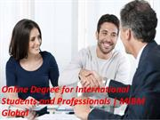 Online Degree for International Students and Professionals Students MI