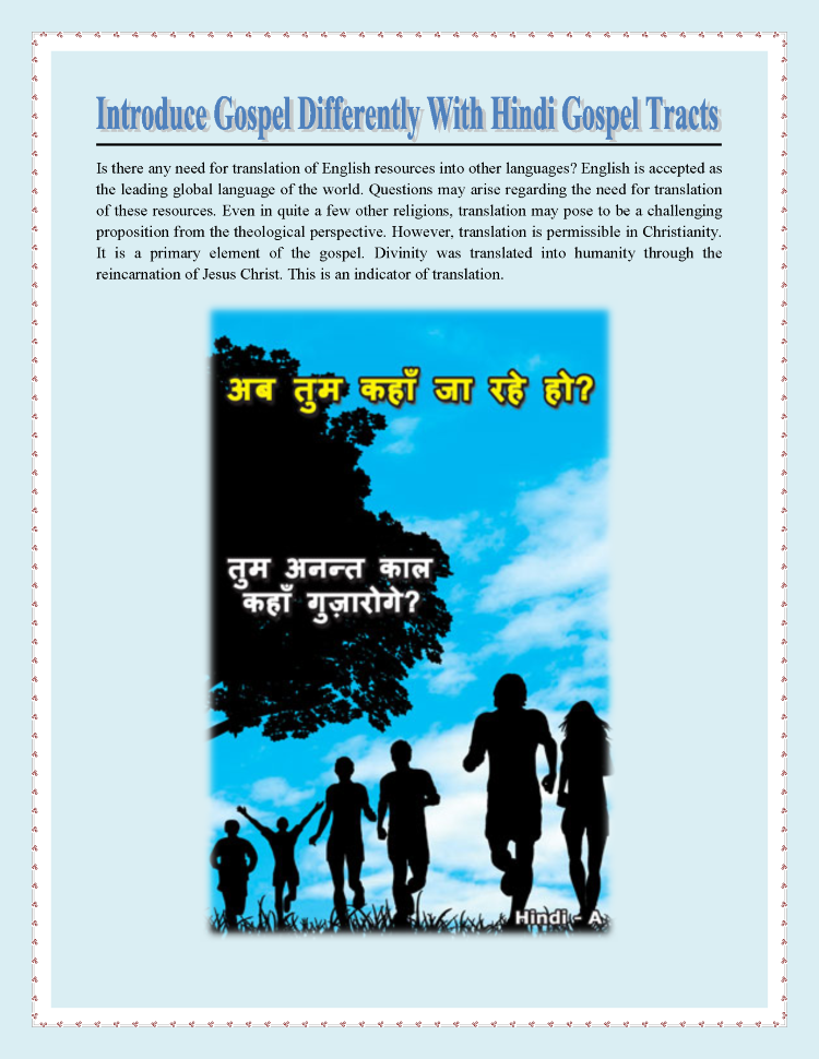 Introduce Gospel Differently With Hindi Gospel Tracts