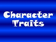 Character Traits and Actions
