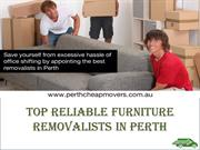 Top Reliable Furniture Removalists in Perth
