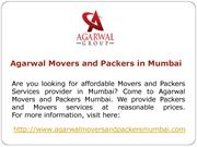 Agarwal Movers and Packers in Mumbai