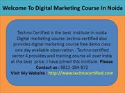 Welcome To Digital Marketing Course In Noida Dial-9811-184-872