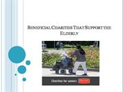 Beneficial Charities That Support the Elderly