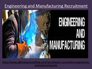 Engineering and Manufacturing Recruitment