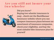 Two Wheeler Insurance online in india