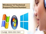 Windows 10 Technical Support Phone Number 18002201041