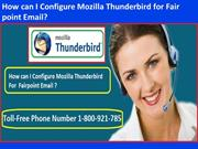 How can I Configure Mozilla Thunderbird for Fairpoint Email?