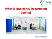 What is Emergency Department Coding ?