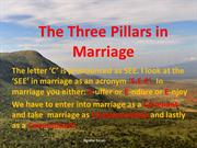 The Three Pillars in Marriage