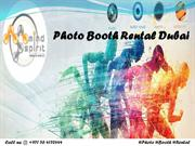 Photo Booth Rental Dubai - Photo Booth Dubai