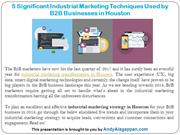5 Significant Industrial Marketing Techniques Used by B2B Businesses