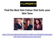 Find the Best Hair Colour that Suits your Skin Tone