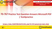 Get Real 70-767 Exam Questions for 70-767 exam