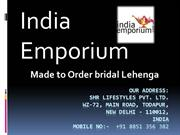 Made to Order bridal Lehengas Online