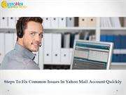 Steps To Fix Common Issues In Yahoo