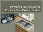 Popular Stainless Steel Kitchen Sink Design Styles