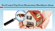Pest Control Tips Every Homeowner Must Know About