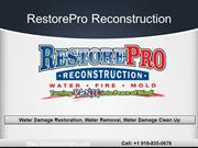 Water Damage Companies Wake Forest NC