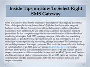 Inside Tips on How To Select Right SMS Gateway