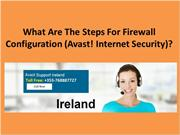 What Are The Steps For Firewall Configuration (Avast! Internet Securit