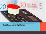 Credit Score & its Significance