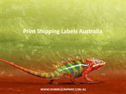 Print Shipping Labels Australia - Chameleon Print Group