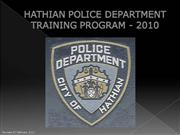 HPD - Training Program 2010 - Revised