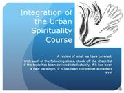 520-15 Integration of Urban Spirituality Training