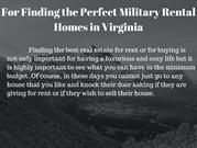 Finding the Perfect Military Homes in Virginia