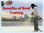 Benefits of Roof Coating