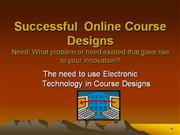 Successful Online Course Design