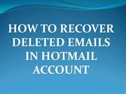 How to Restore Deleted Messages in Hotmail Account