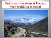 Enjoy your vacation at Everest View trekking at Nepal
