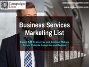 Business Services Direct Marketing List | Business Database