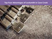 Top Four Advantages of Locksmith in Cave Creek