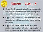 What is Crypto coin x?